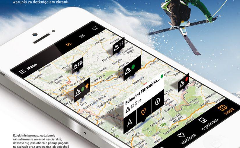 Narciarska aplikacja mobilna nanarty.info Android oraz iOS