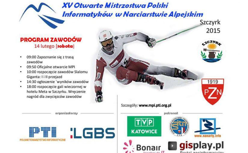 Informatycy do nart, czyli XX Mistrzostwa Polski Informatyków w Narciarstwie Alpejskim 2015