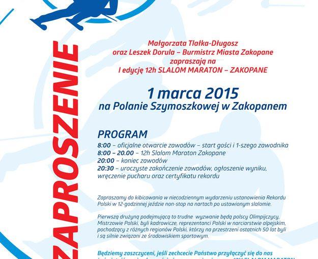 12 godzinny maraton w slalomie na stokach Szymoszkowej