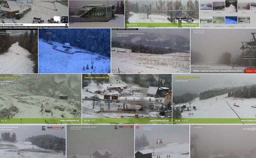 Pierwsze śniegi w sezonie 2015/2016!