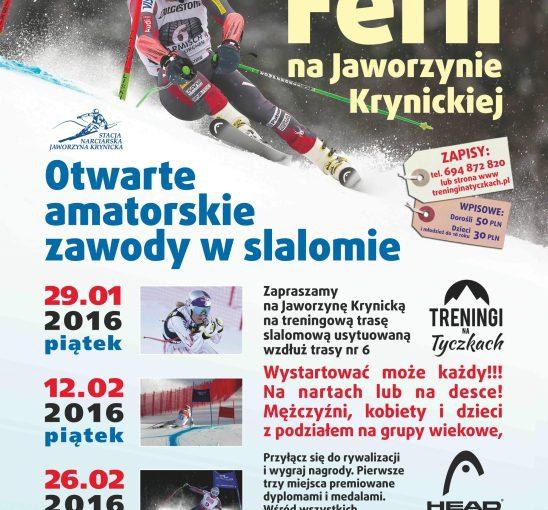 Mistrzostwa Ferii 2016 na Jaworzynie Krynickiej